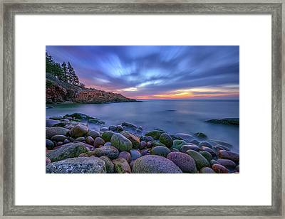 Dawn In Monument Cove Framed Print by Rick Berk