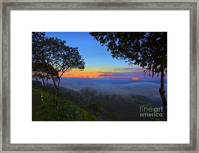 Dawn In The Cajas Range Of The Andes Framed Print by Al Bourassa