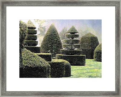 Dawn In A Topiary Garden   Framed Print by Angela Davies