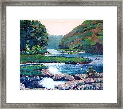 Dawn In West Virginia Framed Print