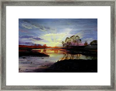 Framed Print featuring the painting Dawn by Jane Autry