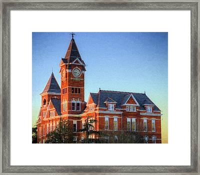 Dawn Light On Samford Hall Framed Print by JC Findley