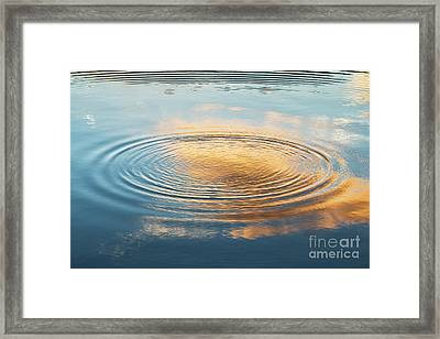 Dawn Light Ripple Framed Print by Tim Gainey