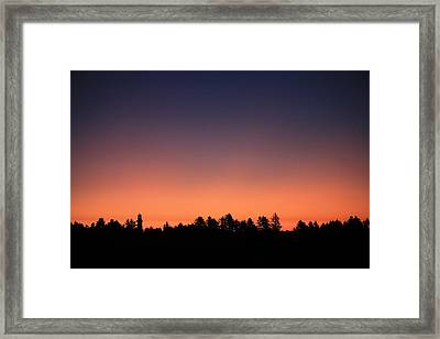 Dawn Lighthouse Framed Print by Mike Coverdale