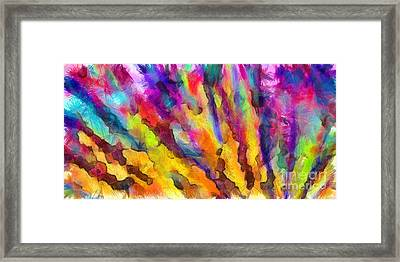 Dawn Of A New Day Abstract Framed Print by Edward Fielding