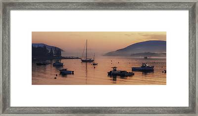 Dawn Of A New Day On Mt. Desert Island  Framed Print by Thomas Schoeller