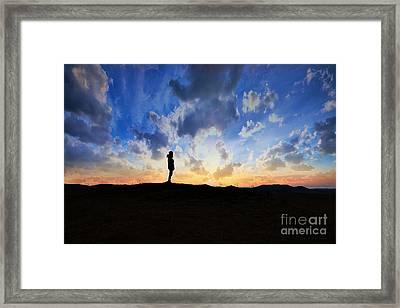 Dawn Of A New Day Sunrise 140a Framed Print by Ricardos Creations