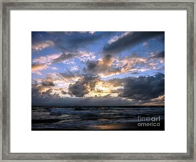 Dawn Of A New Day Treasure Coast Florida Seascape Sunrise 138 Framed Print