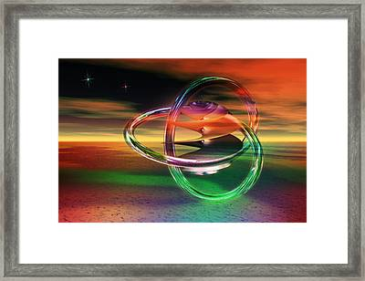 Framed Print featuring the digital art Dawn Of New Creation by Shadowlea Is