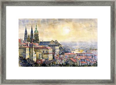 Dawn Of Prague Framed Print by Yuriy  Shevchuk