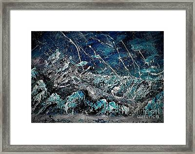 Dawn Of The Ice Age Framed Print