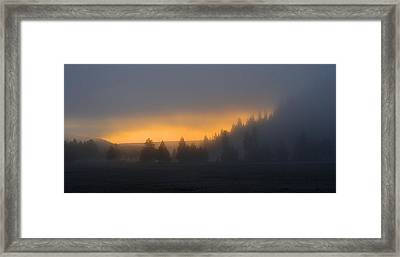 Dawn On A Misty Morning Framed Print