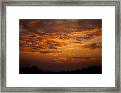 Framed Print featuring the photograph Dawn On Gaither Mountain At Ponca Wilderness by Michael Dougherty