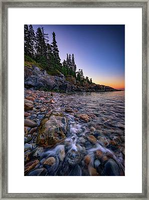 Dawn On Little Hunter's Beach, Acadia Framed Print by Rick Berk