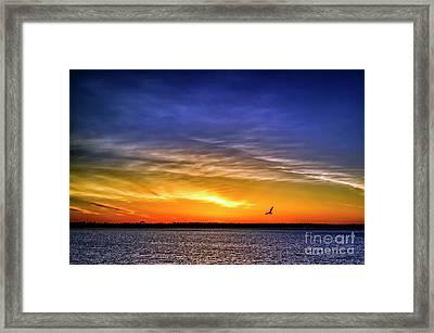 Dawn On Michigami Framed Print by Thomas R Fletcher
