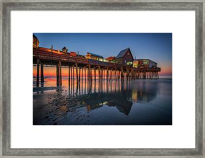 Framed Print featuring the photograph Dawn On Old Orchard Beach by Rick Berk