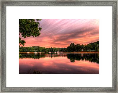 Dawn On The Saco River Framed Print by David Bishop