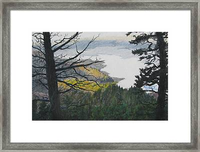 Dawn Over Eagle Nest Lake Framed Print by Kenny King