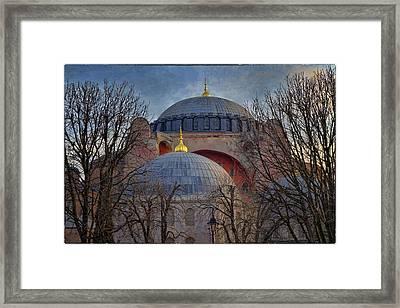 Dawn Over Hagia Sophia Framed Print by Joan Carroll