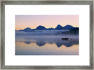 Dawn Over Lake Mcdonald Framed Print