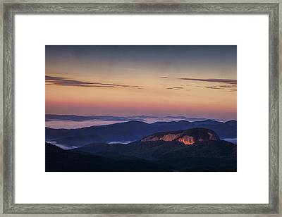 Dawn Over Looking Glass Rock Framed Print by Andrew Soundarajan