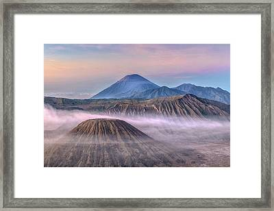 Dawn Over Mount Bromo - Java Framed Print