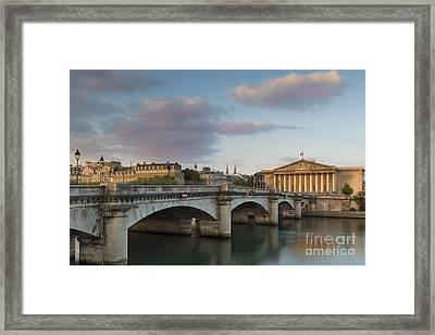 Dawn Over Paris Framed Print
