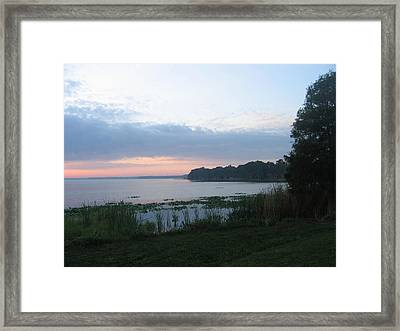 Framed Print featuring the photograph Dawn Over West Cove by Frederic Kohli