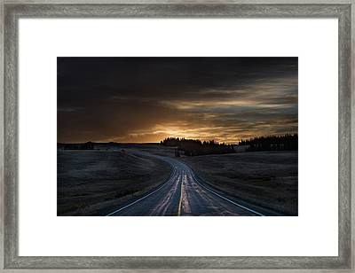 Dawn Over Wyoming 14a Framed Print