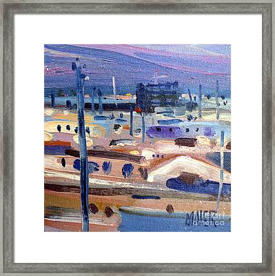 Dawn Overlooking The El Camino Real Framed Print by Donald Maier