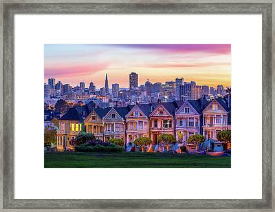 Dawn Painting Framed Print by Dave Gordon