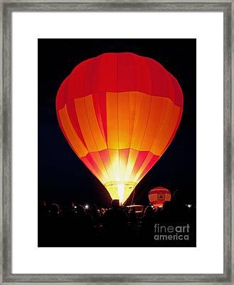 Dawn Patrol Balloon Fiesta Framed Print by Jim Chamberlain