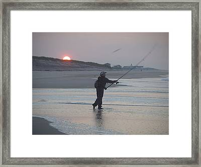 Framed Print featuring the photograph Dawn Patrol by Newwwman
