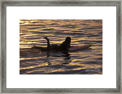 Dawn Patrol Framed Print by Stan and Anne Foster