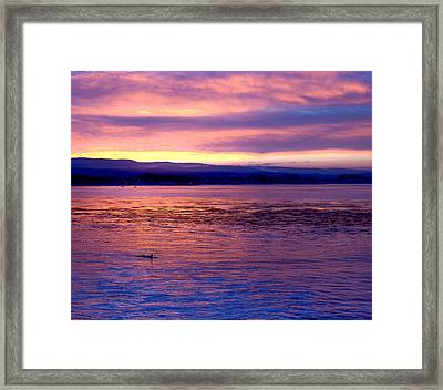 Dawn Patrol Framed Print by Lora Lee Chapman