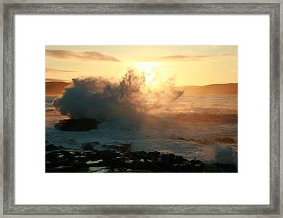 Dawn Porpoise Bay Nz. Framed Print by Terry Perham