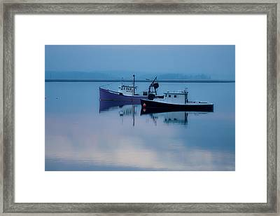 Framed Print featuring the photograph Dawn Rising Over The Harbor by Jeff Folger