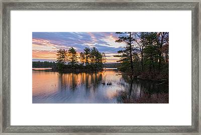 Dawn Serenity At Lake Tiorati Framed Print