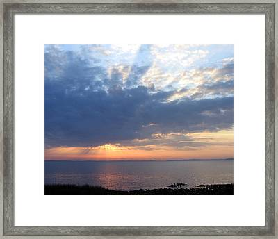 Framed Print featuring the photograph Dawn Sun Rays by Frederic Kohli