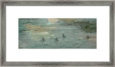 Dawn Surf Framed Print