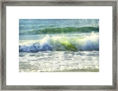 Framed Print featuring the digital art Dawn Wave by Francesa Miller