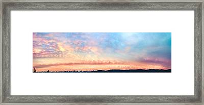 Dawning Of The Mountains Framed Print