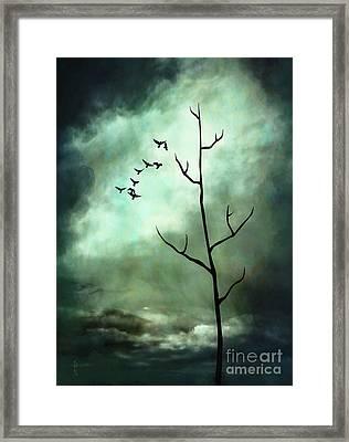 Dawning Tempest Framed Print