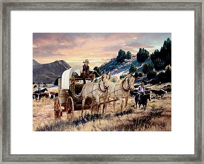 Dawn's Early Drive 2 Framed Print