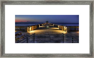 Dawns Early Light Folly Beach Pier Charleston South Carolina Framed Print