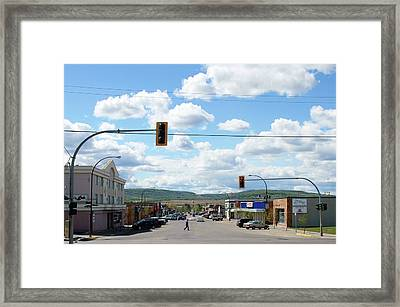 Dawson Creek British Columbia Framed Print by Robert Braley