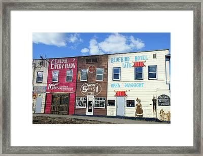 Dawson Creek Street Art Framed Print by Robert Braley