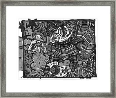 Day And Night Desaturated Framed Print by Robert Wolverton Jr