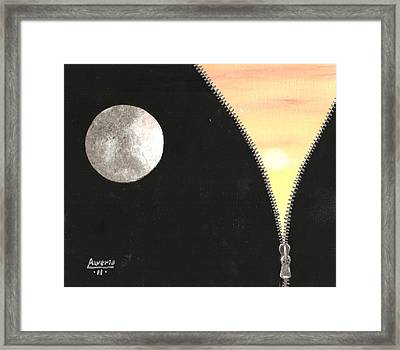 Framed Print featuring the painting Day And Night by Edwin Alverio