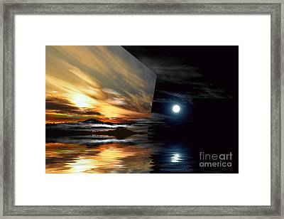 Day And Night Welcome Beach Framed Print